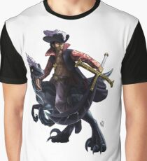 Mihawk on a Raptor Graphic T-Shirt