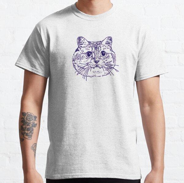 Blue Kitty 4 on grey Classic T-Shirt