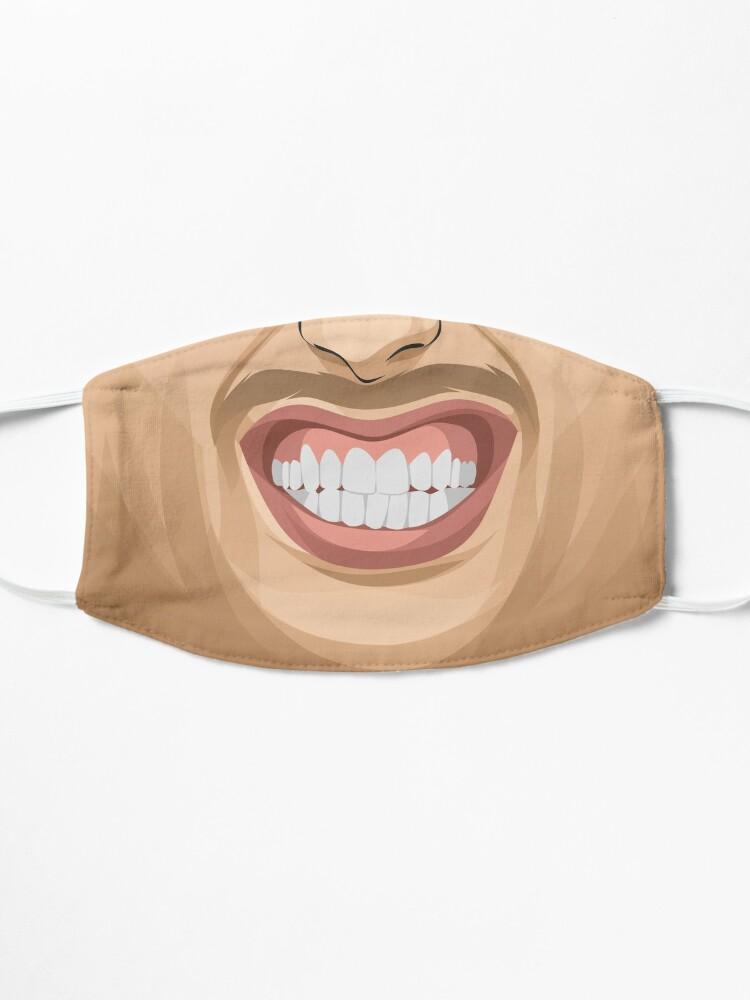 Masque ''Masque de sourire gagnant': autre vue