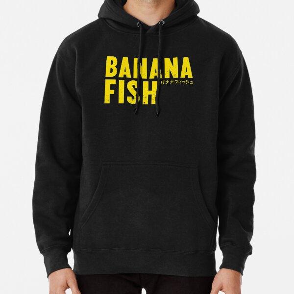 Logo de poisson banane Sweat à capuche épais