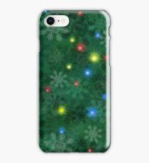 Christmas snow Lights iPhone Case/Skin