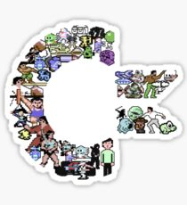 C64 Characters clear bg Sticker