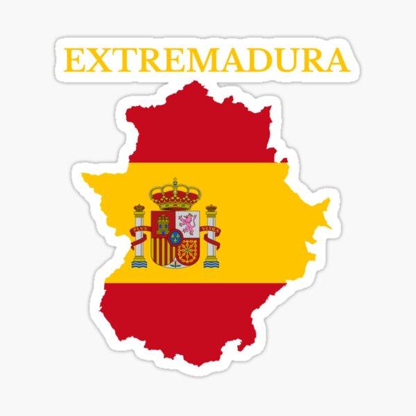 Mapa de Extremadura, España Pegatina