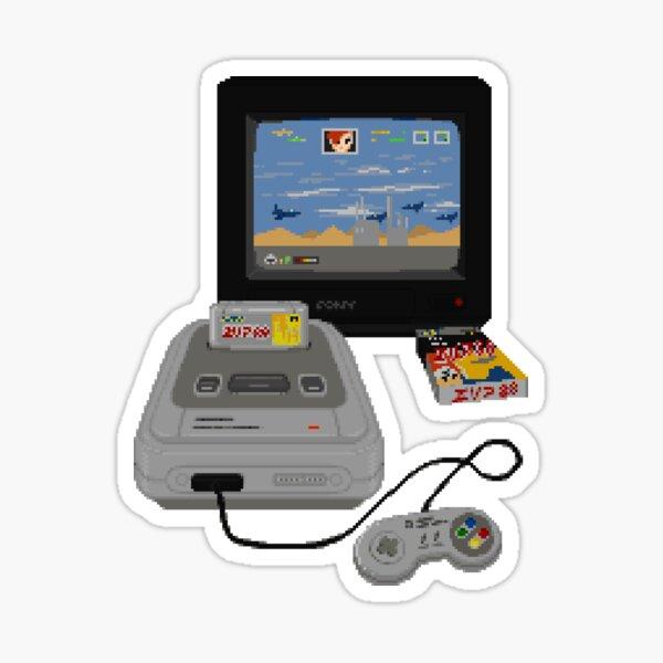 Super Famicom / Super Nintendo / SNES Retro Gaming - Original Pixel Art Sticker
