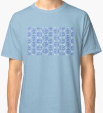 Bike Blue Polka Dot (Small) Classic T-Shirt