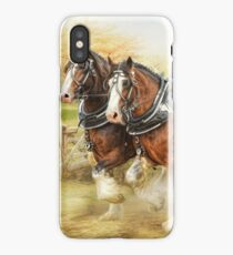 Clydesdales in Harness iPhone Case/Skin