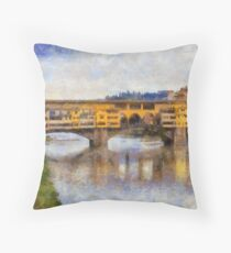Ponte Vecchio, Florence, Italy Throw Pillow