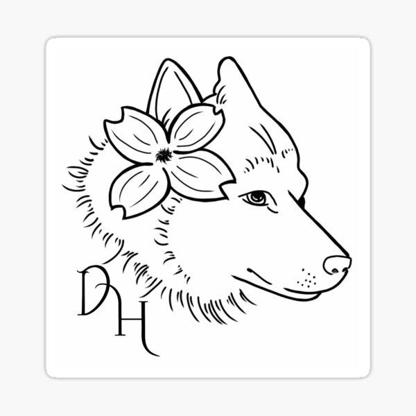 Dogwood House logo - white Sticker