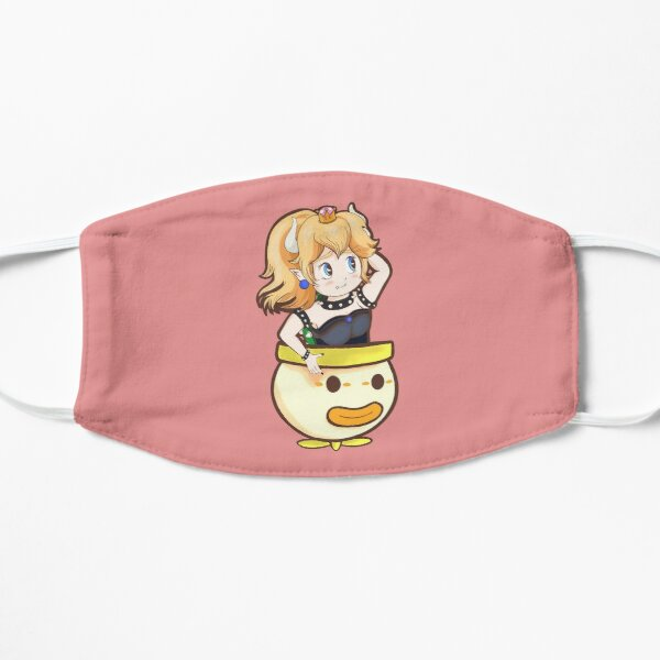 Cute bowsette flying Flat Mask