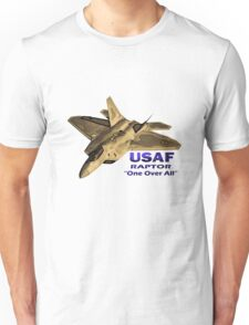 "US Air Force Raptor ""One Over All"" Unisex T-Shirt"