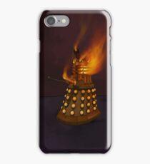 Dr Who Classic Dalek in Flames iPhone Case/Skin