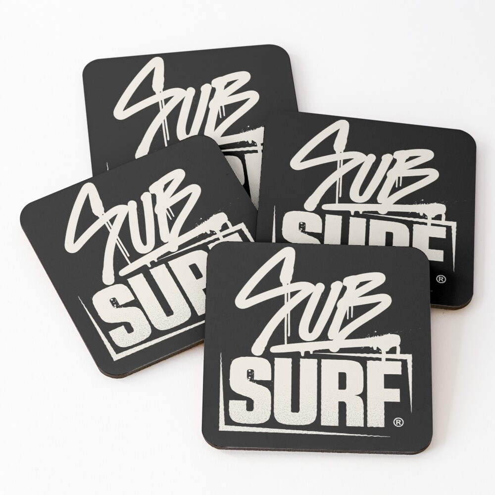 Sub Surf Logo - Subway Surfers Coasters (Set of 4)