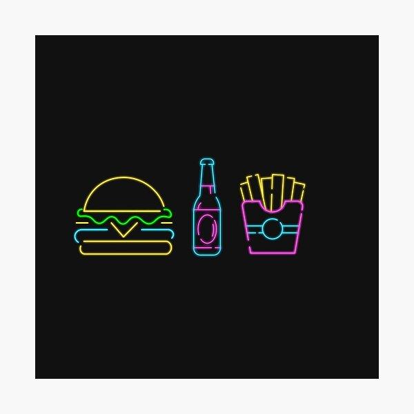 Burger & Fries Photographic Print