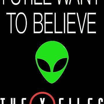 X-File Still Want To Believe Alien Head 2015 by squidhunterwa