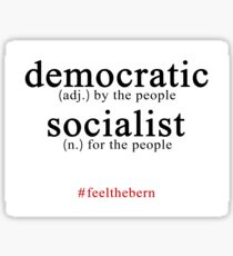 Democratic Socialist Bernie Sanders Sticker