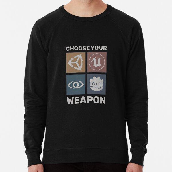 Elige tu arma - Motor de juego - Negro Sudadera ligera