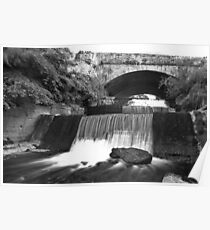 Old Bawn waterfall - Tallaght - Dublin Poster