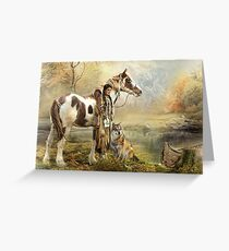 Native american indian greeting cards redbubble indian autumn greeting card m4hsunfo