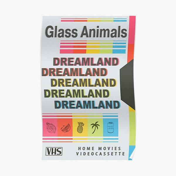 DREAMLAND Glass Animals Retro VHS - Light Poster