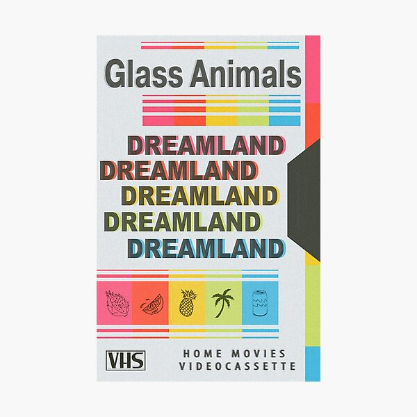 DREAMLAND Glass Animals Retro VHS - Light Photographic Print