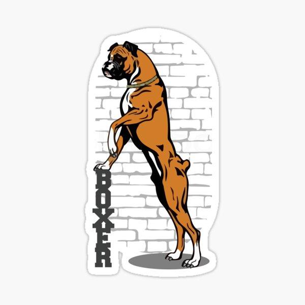 Standing Boxer Dog Sticker