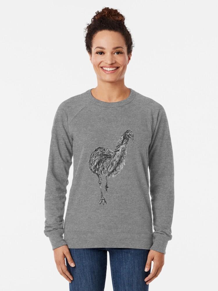 Alternate view of Shyly the Emu Lightweight Sweatshirt