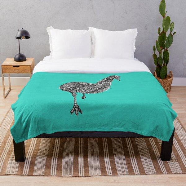 Shyly the Emu Throw Blanket
