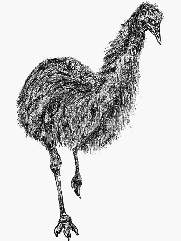 Shyly the Emu by Wildcard-Sue