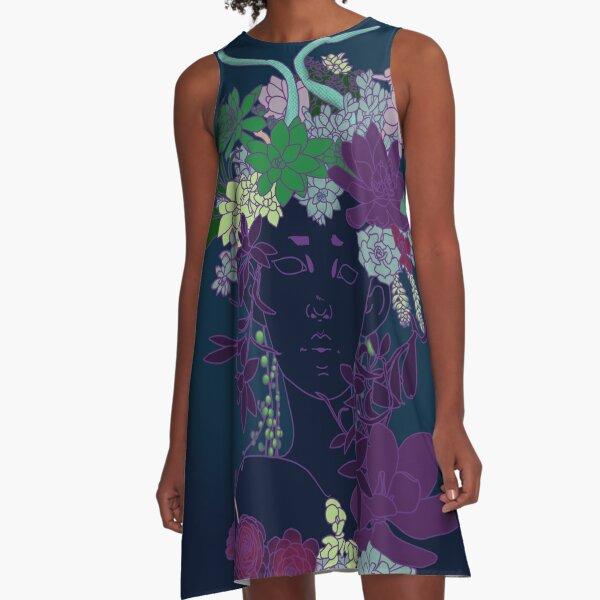 Succulent Witch A-Line Dress