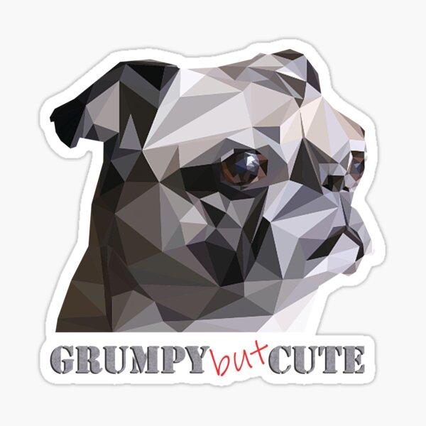 Grumpy pug Sticker