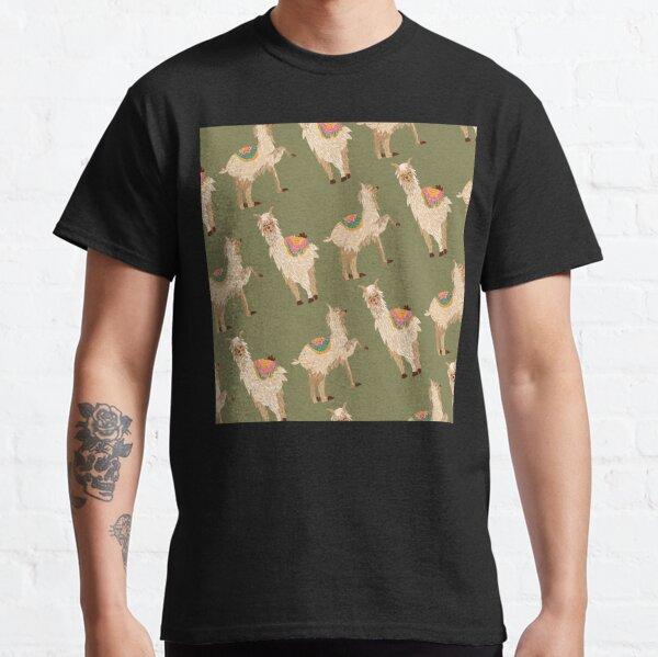 Bunte Lamas und Alpakas handgezeichnet Classic T-Shirt