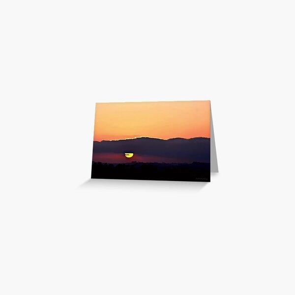 Sunset Watch ~ digital paint effect Greeting Card