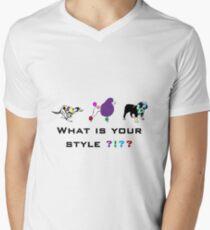 Dog style Men's V-Neck T-Shirt