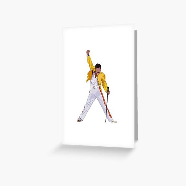 Freddie Mercury Greeting Card