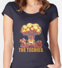 Dota 2 - Techies Pixelated Women's Fitted Scoop T-Shirt