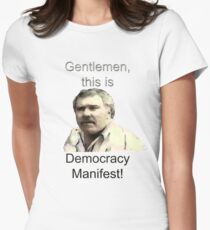 Democracy Manifest Women's Fitted T-Shirt