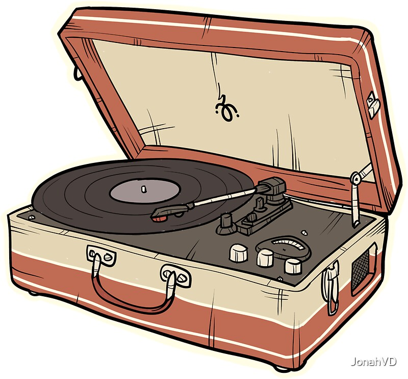 Record Player: Stickers | Redbubble