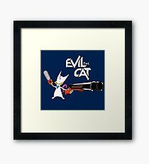 EVIL CAT Framed Print