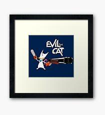 EVIL CAT Framed Print