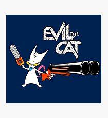 EVIL CAT Photographic Print