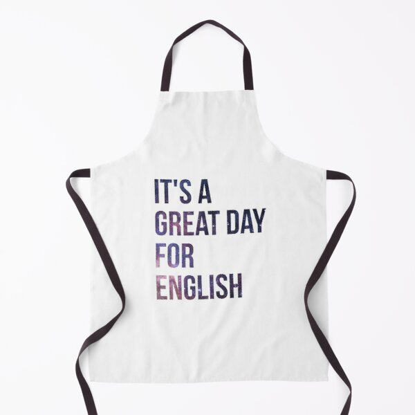 It's a Great Day for English Apron