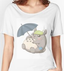 Rainy Day Totoro Women's Relaxed Fit T-Shirt