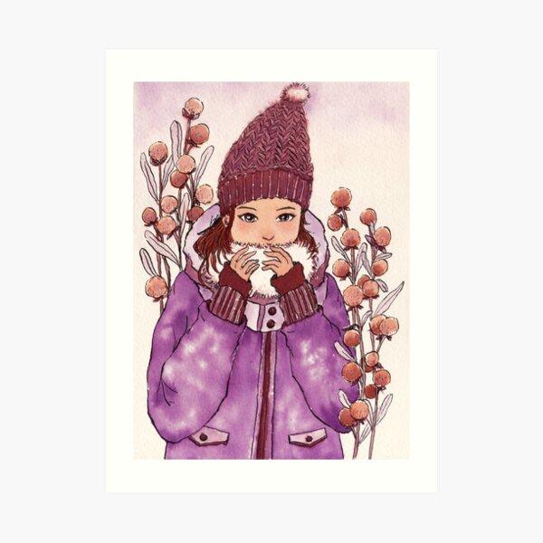 The Girl wearing a Warm Hat Art Print
