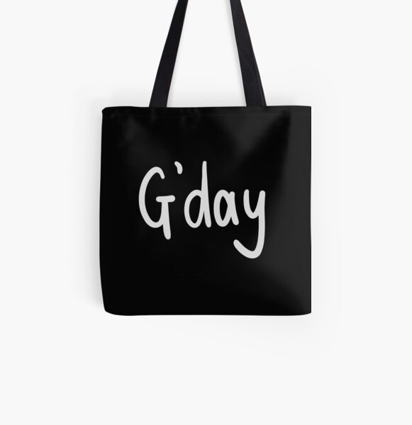 G'day! Aussie Slang All Over Print Tote Bag