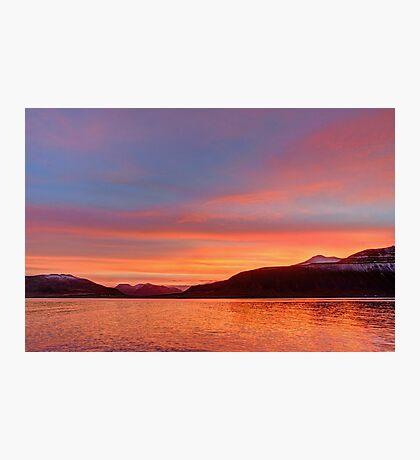 Sunrise over Grundarfordur Photographic Print