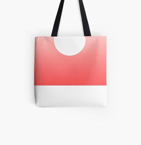 White Sun All Over Print Tote Bag