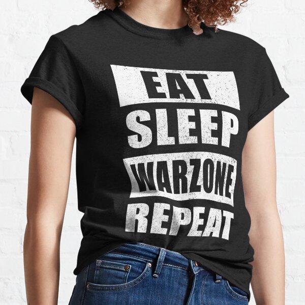 Eat Sleep Warzone Répétition T-shirt classique