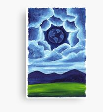 Night Earth in the Sky Canvas Print