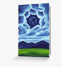 Night Earth in the Sky Greeting Card