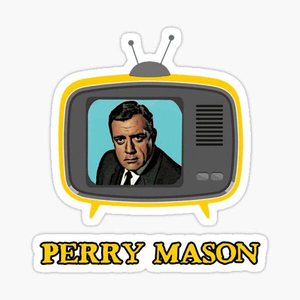 perry mason tv lawyer vintage Sticker